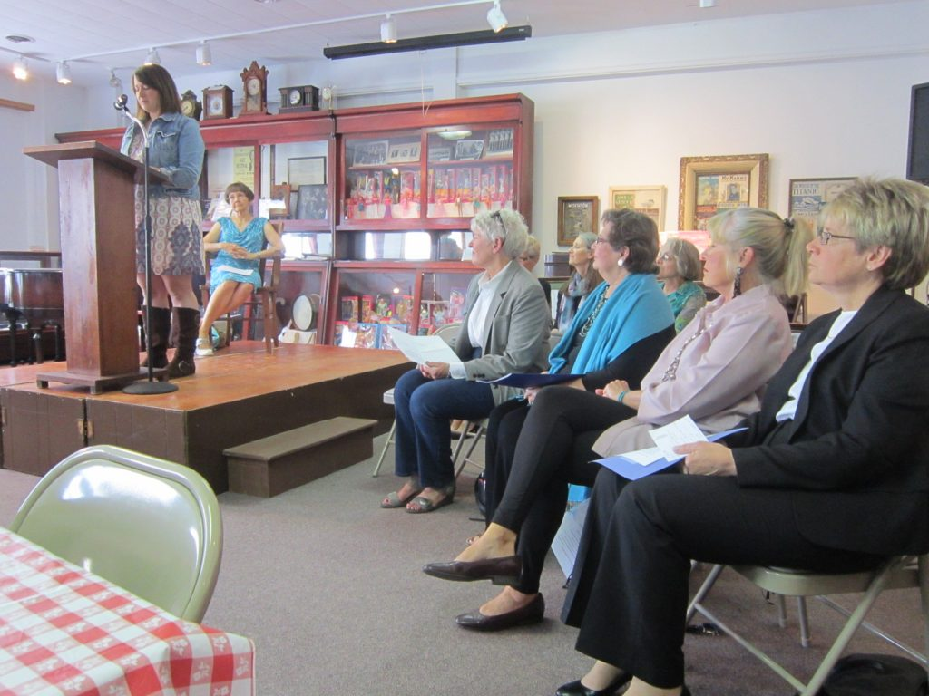 Our local poets reading in 2014 at our Greene County Historical Museum.