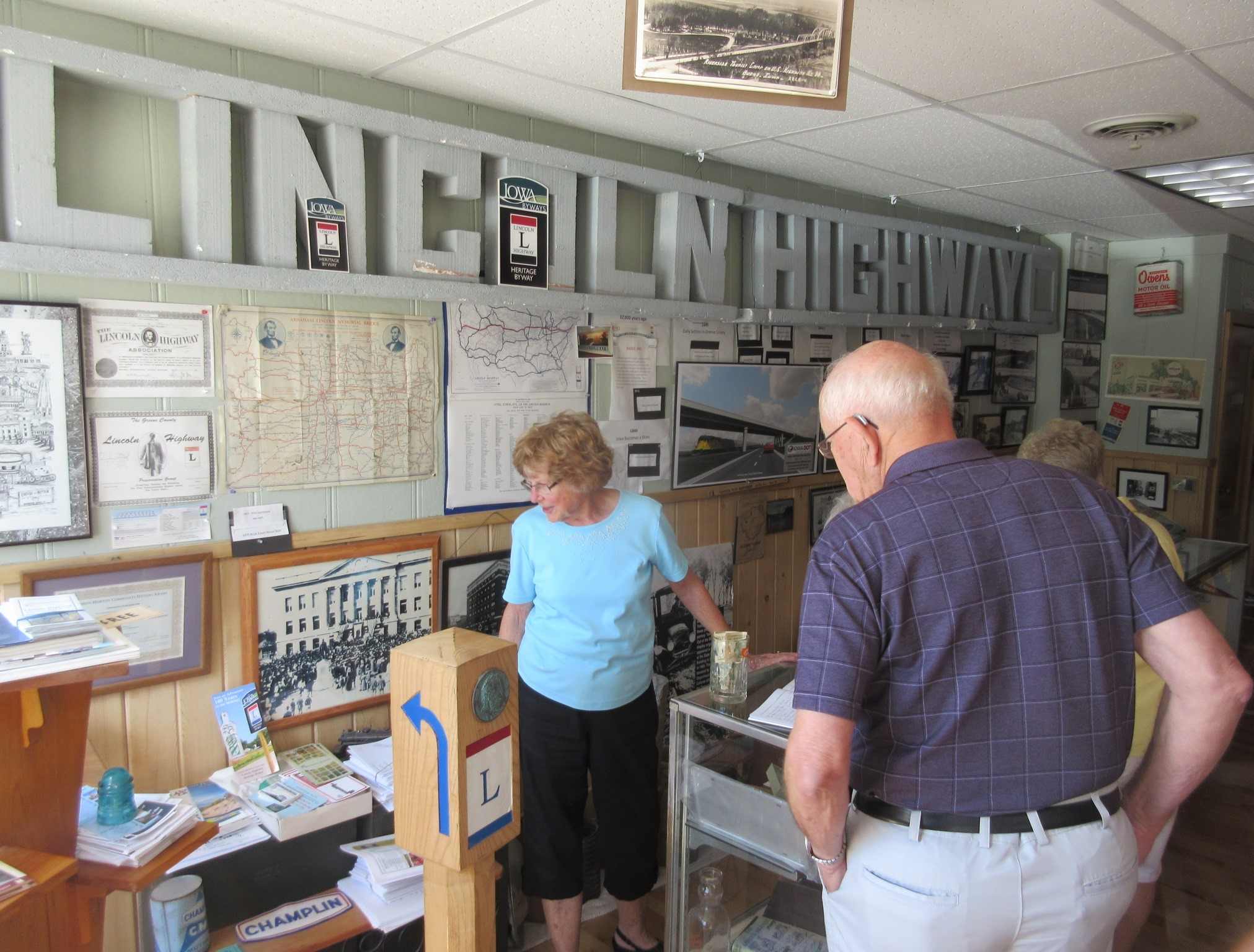 Joyce Ausberger welcomes visitors at Lincoln Highway Museum